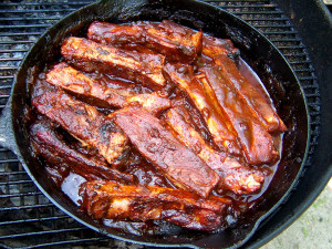 Ribs ready to serve.